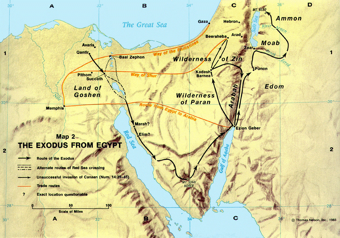 BIBLICAL INTRODUCTION Adults - Map of egypt during exodus