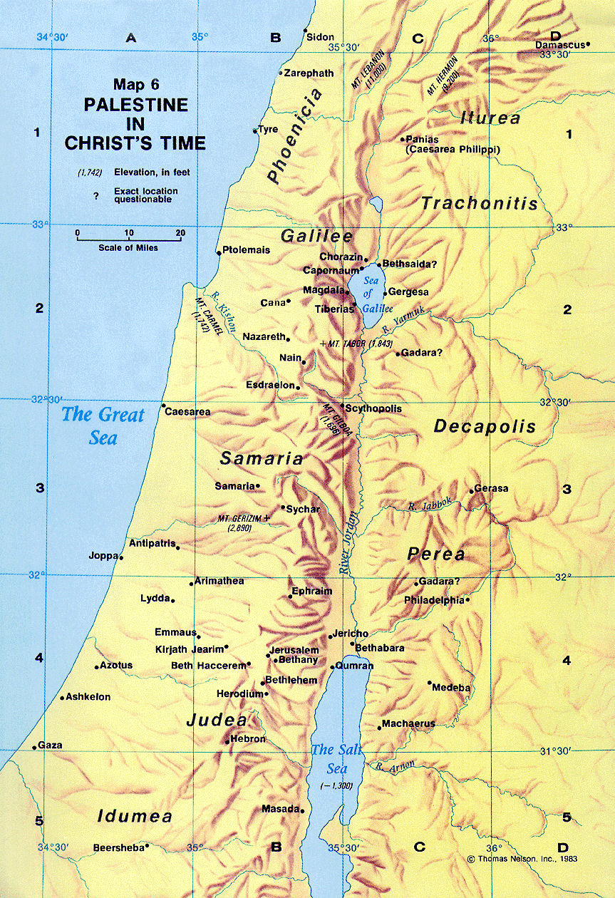 Map 06b Palestine in Christs timejpeg